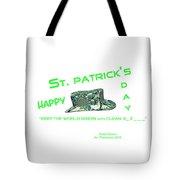 St. Patrick's Day Memphis 3d Tote Bag