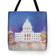 St. Paul Capitol Winter Tote Bag