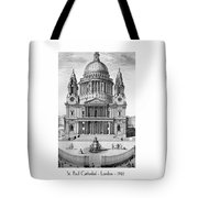 St. Paul Cathedral - London - 1792 Tote Bag