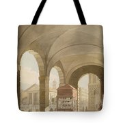 St. Pauls, Covent Garden C.1765-75 Graphite And Wc On Paper Tote Bag