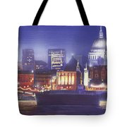 St Paul's Landscape River Tote Bag by MGL Meiklejohn Graphics Licensing