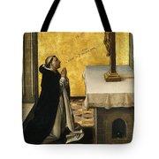 St. Peter Martyr In Prayer Tote Bag