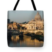 St Peter Morning Glow - Impressions Of Rome Tote Bag