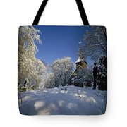 St Peter's Church In The Snow Tote Bag