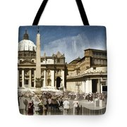 St Peters Square - Vatican Tote Bag by Jon Berghoff