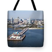 St Petersburg Skyline And Pier Tote Bag