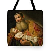 St Simeon Presenting The Infant Christ In The Temple  Tote Bag