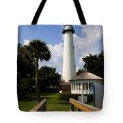 St. Simon's Island Georgia Lighthouse Painted Tote Bag