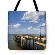 St. Simon's Island Georgia Pier Tote Bag
