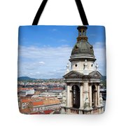 St Stephen's Basilica Bell Tower In Budapest Tote Bag