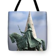 St Stephen's Statue In Budapest Tote Bag