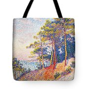 St Tropez The Custom's Path Tote Bag by Paul Signac