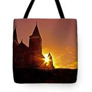 St Vincent Basilica At Sunset Tote Bag