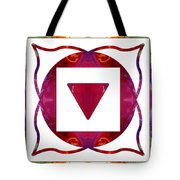 Stabilized Emotions And Thoughtful Feelings Abstract Chakra Art  Tote Bag