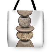 Stack Of Balanced Rocks With Heart Tote Bag