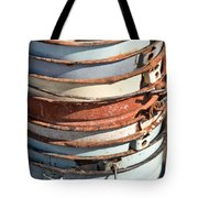 Stacked Buckets Tote Bag