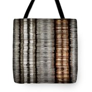 Stacked Coins Tote Bag