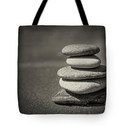 Stacked Pebbles On Beach Tote Bag