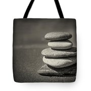 Stacked Pebbles On Beach Tote Bag by Elena Elisseeva