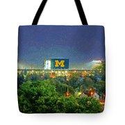 Stadium At Night Tote Bag