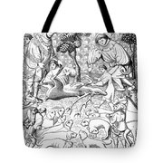 Stag Hunters, 15th Century Tote Bag