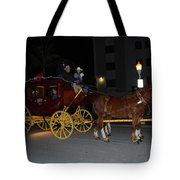 Stagecoach And Horses Tote Bag
