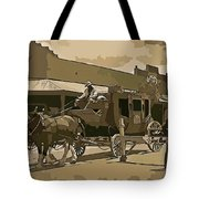 Stagecoach In Old West Arizona Tote Bag