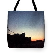 Stagecoach Riding Off Into The Sunset Tote Bag