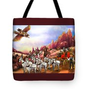 Stagecoach Robbery Tote Bag