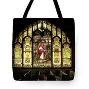 Stain Glass Behold I Stand At The Door And Knock Tote Bag
