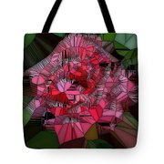 Stain Glass Rose Tote Bag