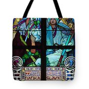 Stained Galss Window In St Vitus Tote Bag