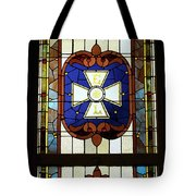 Stained Glass 3 Panel Vertical Composite 01 Tote Bag by Thomas Woolworth