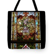 Stained Glass 3 Panel Vertical Composite 06 Tote Bag