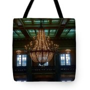 Stained Glass And Chandelier  Tote Bag