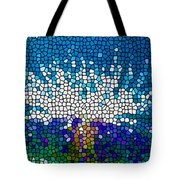 Stained Glass Anemone 1 Tote Bag