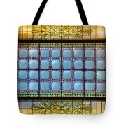 Stained Glass At Md State House Tote Bag