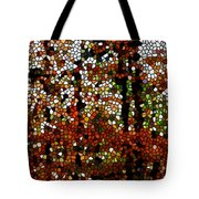 Stained Glass Autumn Colors In The Forest  Tote Bag
