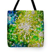 Stained Glass Beautiful Fireworks Tote Bag