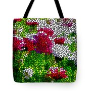 Stained Glass Chrysanthemum Flowers Tote Bag