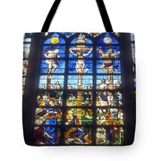 Stained Glass Crucifixion Tote Bag