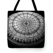 Stained Glass Dome - Bw Tote Bag