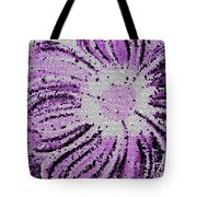 Stained Glass Flower With Purple Stripes Tote Bag