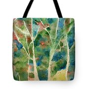 Stained Glass Forest In Spring Tote Bag