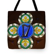 Stained Glass Harp Tote Bag