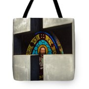 Stained Glass In A Tomb Tote Bag