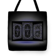 Stained Glass In Blue Tote Bag
