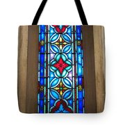 Stained Glass In Redeemer Lutheran Tote Bag
