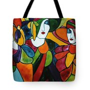 Stained Glass Iv Tote Bag