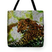 Stained Glass Leopard 2 Tote Bag